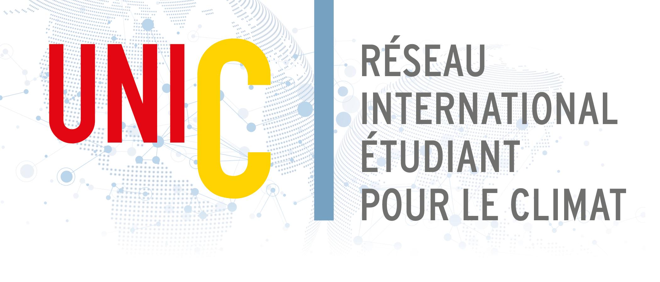 Logo UniC - Réseau international étudiant pour le climat